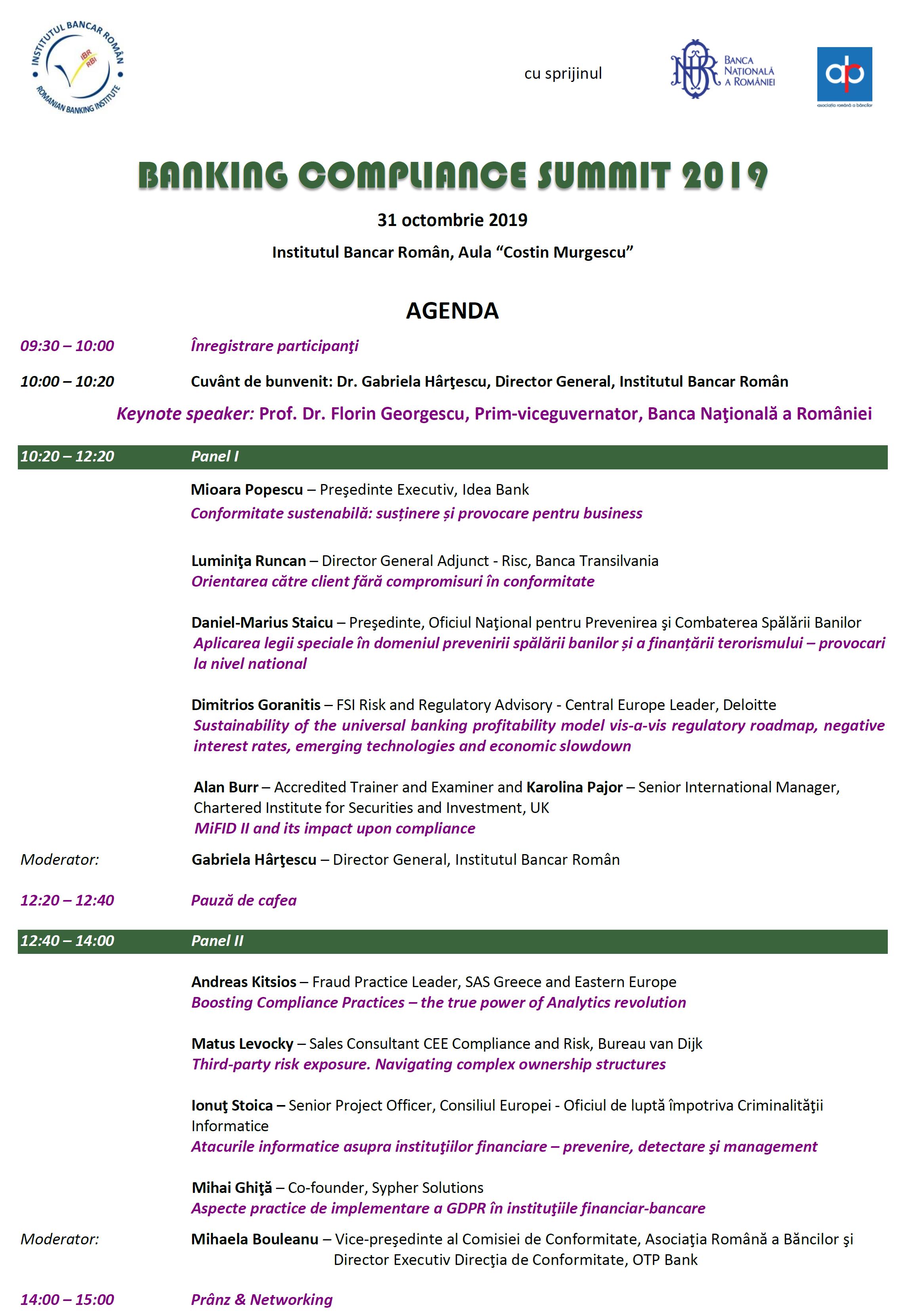 Agenda BCS 2019