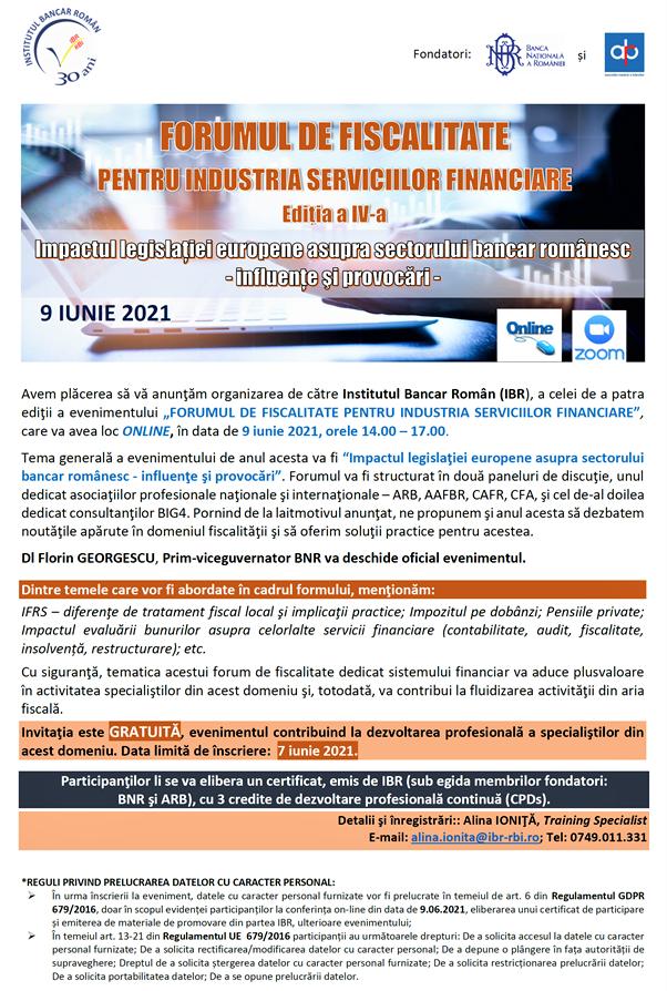 Forum de Fiscalitate 2021